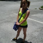 Alysa Hart spots an older man she wants to give a handjob to in the parking lot