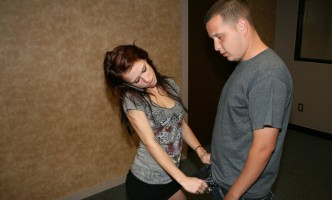 Jenna Jaded unzips a guys pants to get at his cock