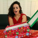 Michelle Maverick opens a gift and sees a cock