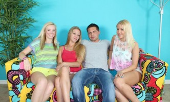 three-blonde-teens-seduce-hunk