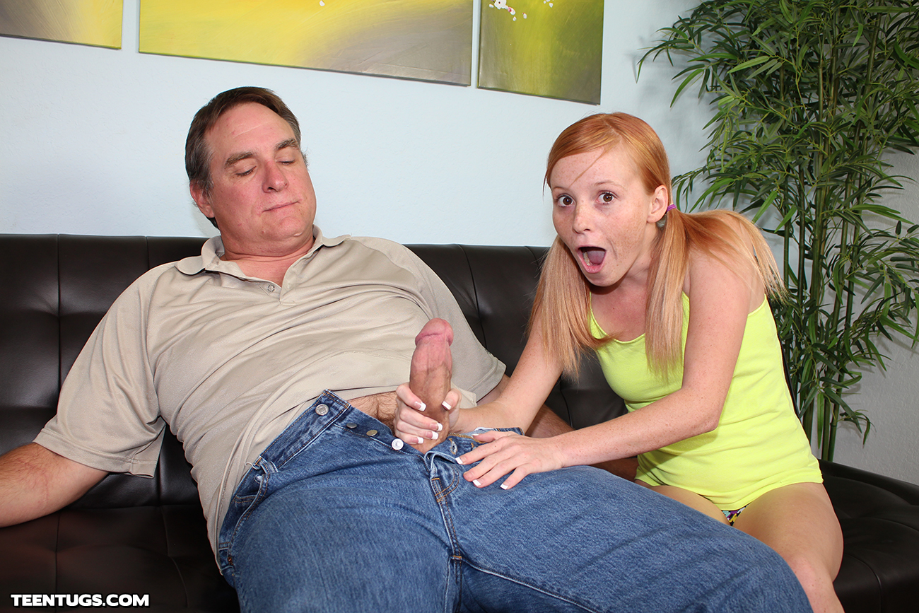 Giving Uncle A Hand Job