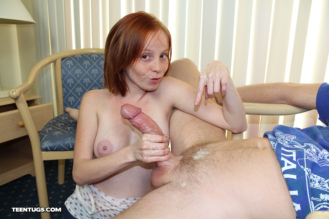 Her first big cock handjob