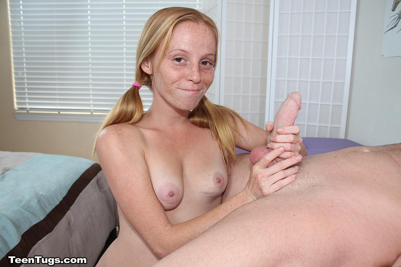 Handjobs big tiny hands cock