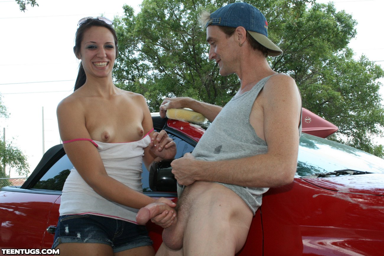 Women giving hand jobs in public