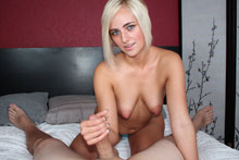 Fresh Faced Teen Kate England Sensually Strokes Throbbing Dick Until It Erupts - Picture 8
