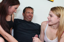 Young Teen Sluts Jerking Off Their Uncle - Picture 6