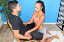 Young Slut Raven Jerking Off Monster Cock - Picture 2
