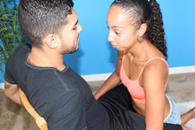 Young Slut Raven Jerking Off Monster Cock - Picture 3