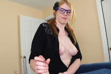 Blonde Babe Victoria Jerking Off Her Step Brother - Picture 7